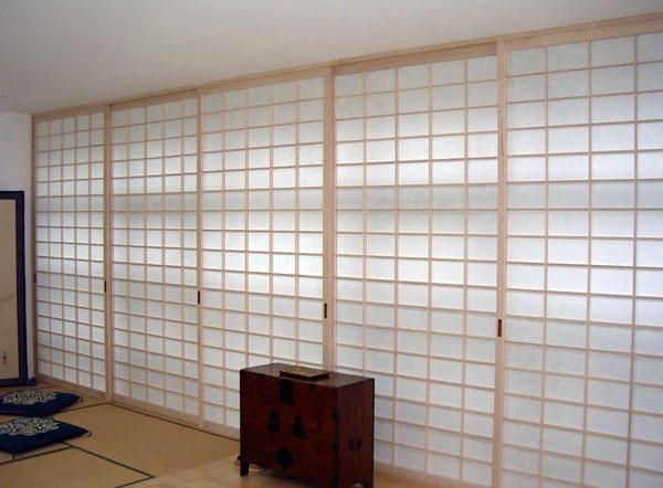 Japanische Wand schiebewände shoji japanische einrichtungen